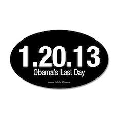 Obama's Last Day Reversed Sticker