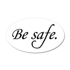 Be Safe 35x21 Oval Wall Peel