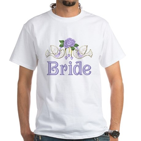 Dove & Rose - Bride Purple White T-Shirt