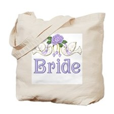 Dove & Rose - Bride Purple Tote Bag