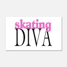 Skating Diva 20x12 Wall Peel
