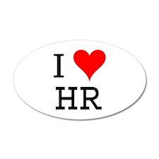 I Love HR 20x12 Oval Wall Peel