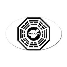 Dharma Hatch 35x21 Oval Wall Peel