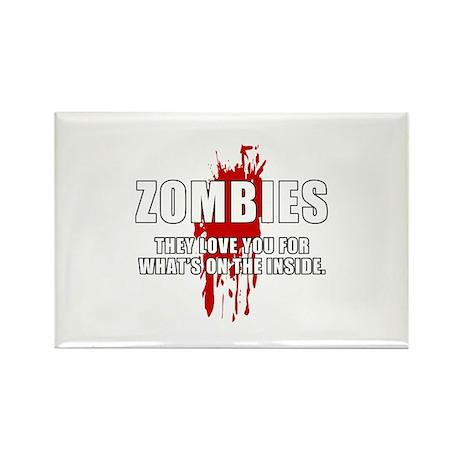 Zombie Humor (Love) Rectangle Magnet