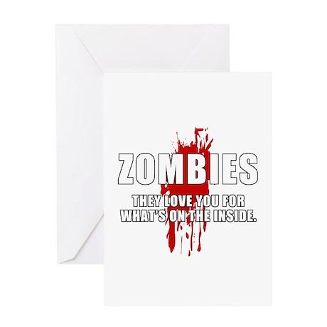 Zombie Humor (Love) Greeting Card