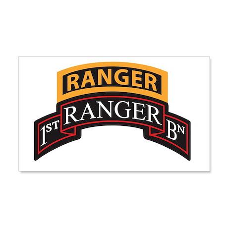 1st Ranger BN Scroll with Ran 20x12 Wall Peel