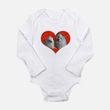 American Eskimo Dog Long Sleeve Infant Bodysuit