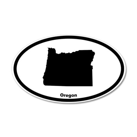 Oregon State Outline 20x12 Oval Wall Peel