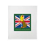 United Kingdom Map Throw Blanket