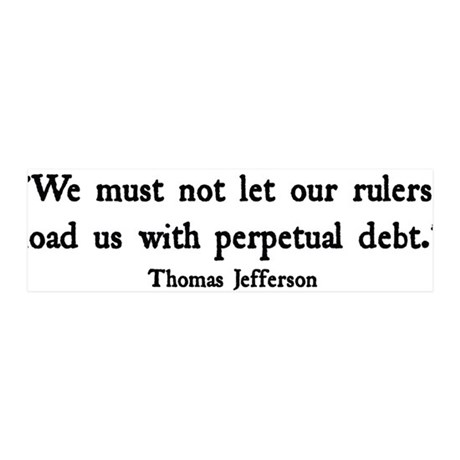Debt 36x11 Wall Peel