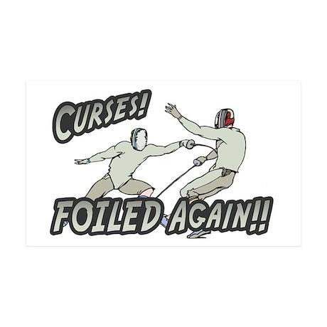 Curses Foiled Again 35x21 Wall Peel