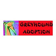 Greyhound Adoption 36x11 Wall Peel