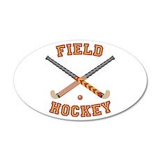 Field Hockey 20x12 Oval Wall Peel