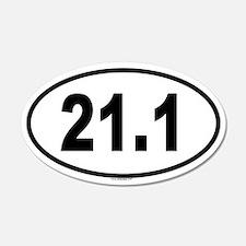 21.1 20x12 Oval Wall Peel