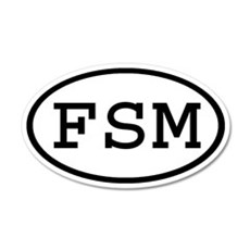 FSM Oval 20x12 Oval Wall Peel