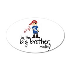 big brother shirt pirate 20x12 Oval Wall Peel