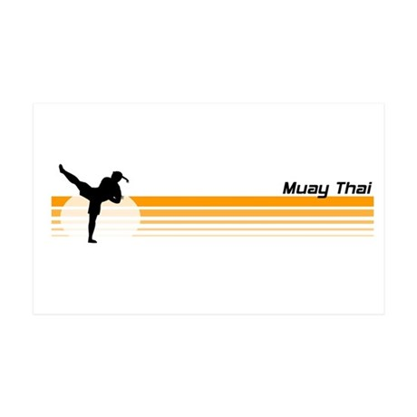 Muay Thai 35x21 Wall Peel