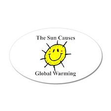 Sun Causes Global Warming 20x12 Oval Wall Peel