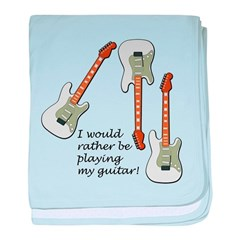 Playing My Guitar baby blanket