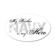 Brother is my Hero NAVY 20x12 Oval Wall Peel