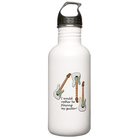 Playing My Guitar Stainless Water Bottle 1.0L