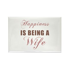 Wife (Happiness) Rectangle Magnet (100 pack)