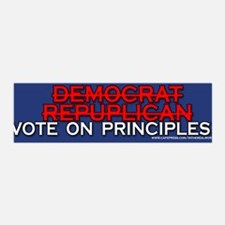 Vote on Principles not party Lines 36x11 Wall Peel