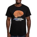 Brain Loading Men's Fitted T-Shirt (dark)