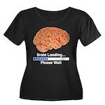 Brain Loading Women's Plus Size Scoop Neck Dark T-