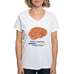 Brain Loading Women's V-Neck T-Shirt