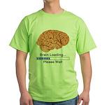 Brain Loading Green T-Shirt