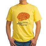 Brain Loading Yellow T-Shirt