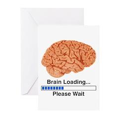 Brain Loading Greeting Cards (Pk of 10)