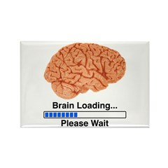 Brain Loading Rectangle Magnet (10 pack)