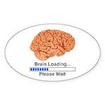 Brain Loading Sticker (Oval 50 pk)