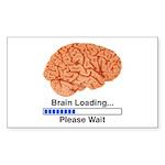 Brain Loading Sticker (Rectangle 10 pk)