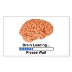 Brain Loading Sticker (Rectangle 50 pk)
