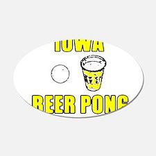 Iowa Beer Pong 20x12 Oval Wall Peel
