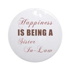 Sister-In-Law (Happiness) Ornament (Round)