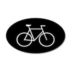 Black/White Bike 20x12 Oval Wall Peel