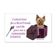 Yorkshire Terrier Yorkie 20x12 Wall Peel