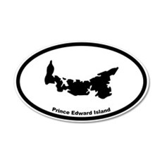 Prince Edward Island Canada Outline Wall Decal