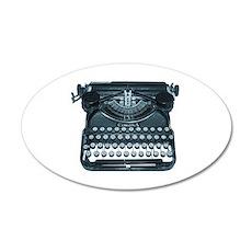 typewriter 20x12 Oval Wall Peel
