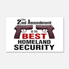 Guns & Homeland Security 20x12 Wall Peel