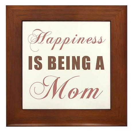 Mom (Happiness) Framed Tile