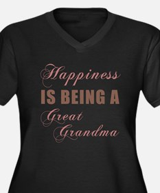 Great Grandma (Happiness) Women's Plus Size V-Neck