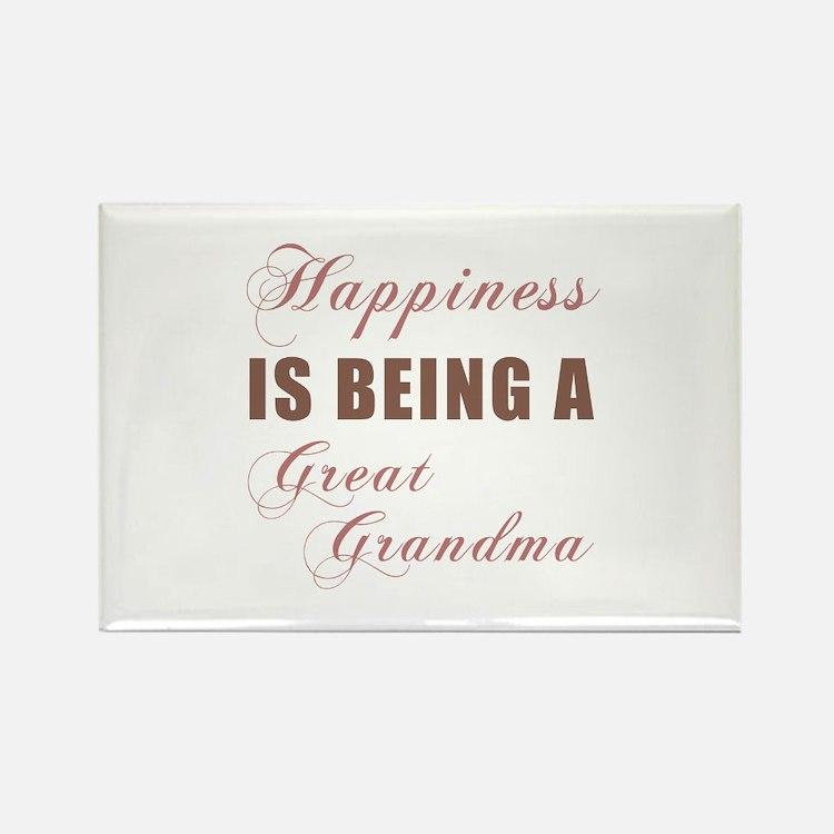 Great Grandma (Happiness) Rectangle Magnet