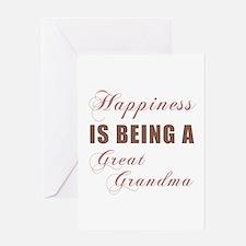 Great Grandma (Happiness) Greeting Card