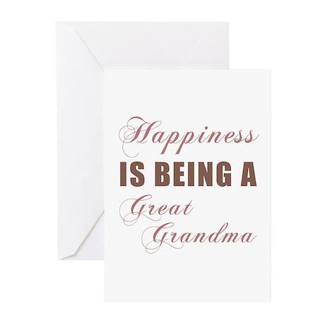 Great Grandma (Happiness) Greeting Cards (Pk of 10