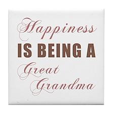 Great Grandma (Happiness) Tile Coaster